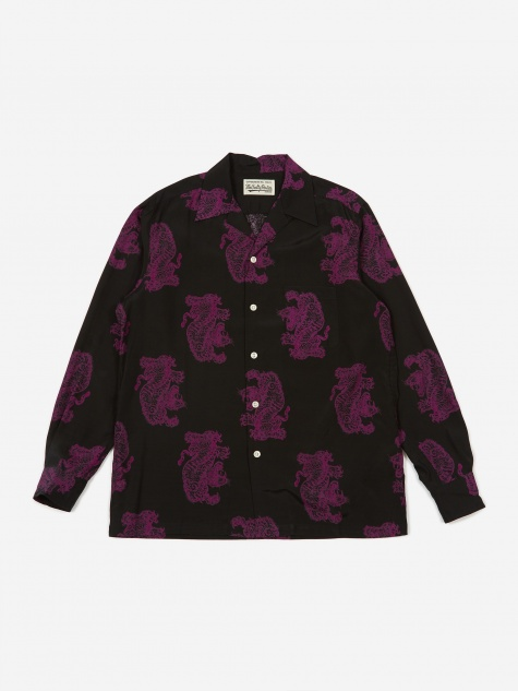 x Tim Lehi Longsleeve Hawaiian Shirt (Type 2) - Purp