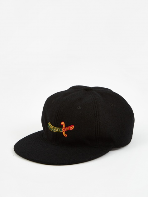 Wool 6 Panel Cap (Type 3) - Black