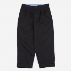 Beams Plus 2 Pleats Twill Trouser - Black