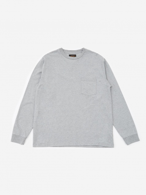 Longsleeve Pocket T-Shirt 40/2 - Grey