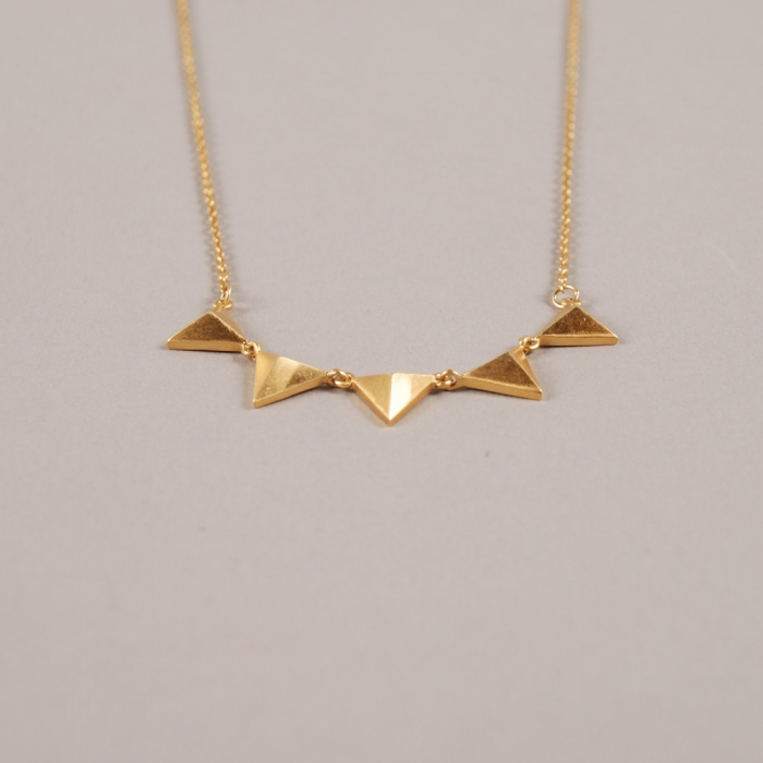 Maria Black 5 Stud Necklace - Gold (Image 1)