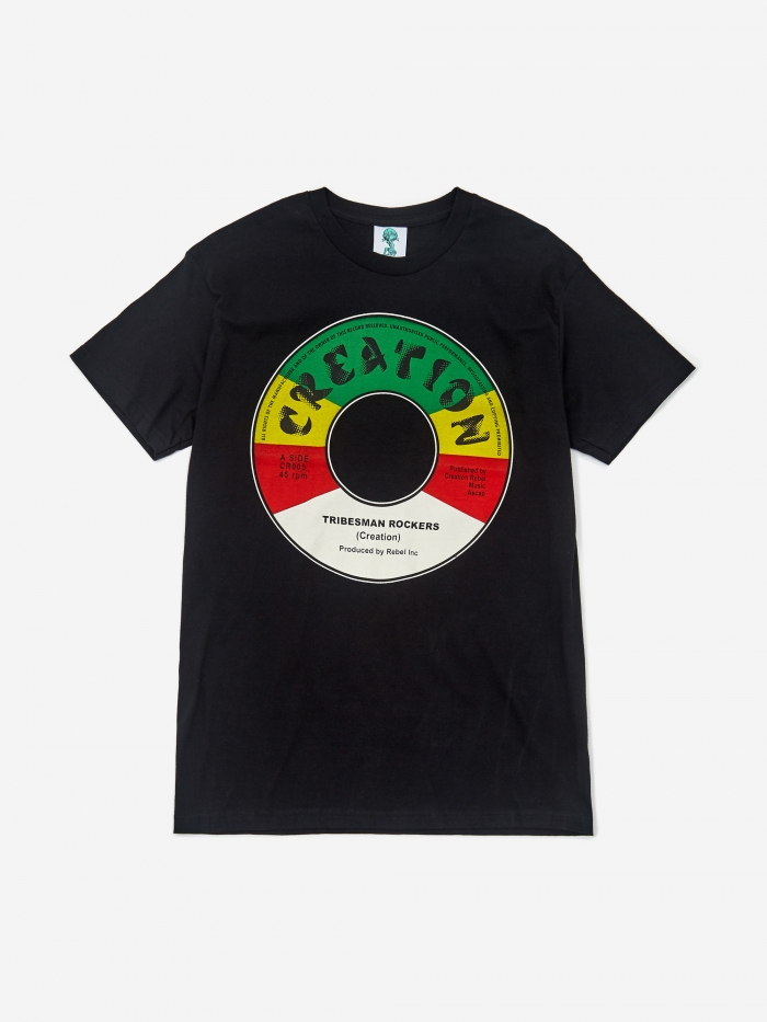 Creation Tribeman Rockers Label Shortsleeve T-Shirt - Black (Image 1)
