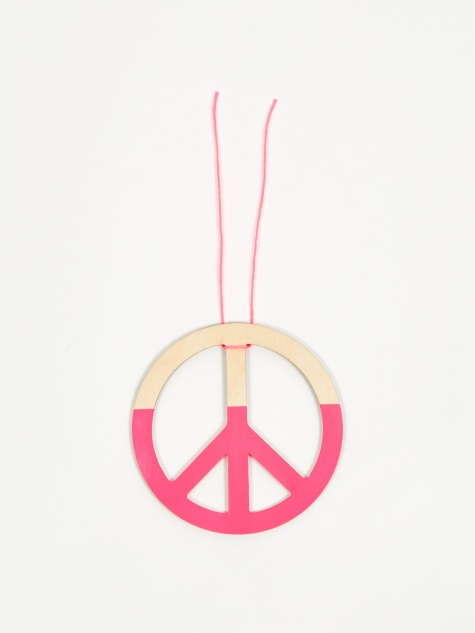 Peace Ornament - Neon Pink