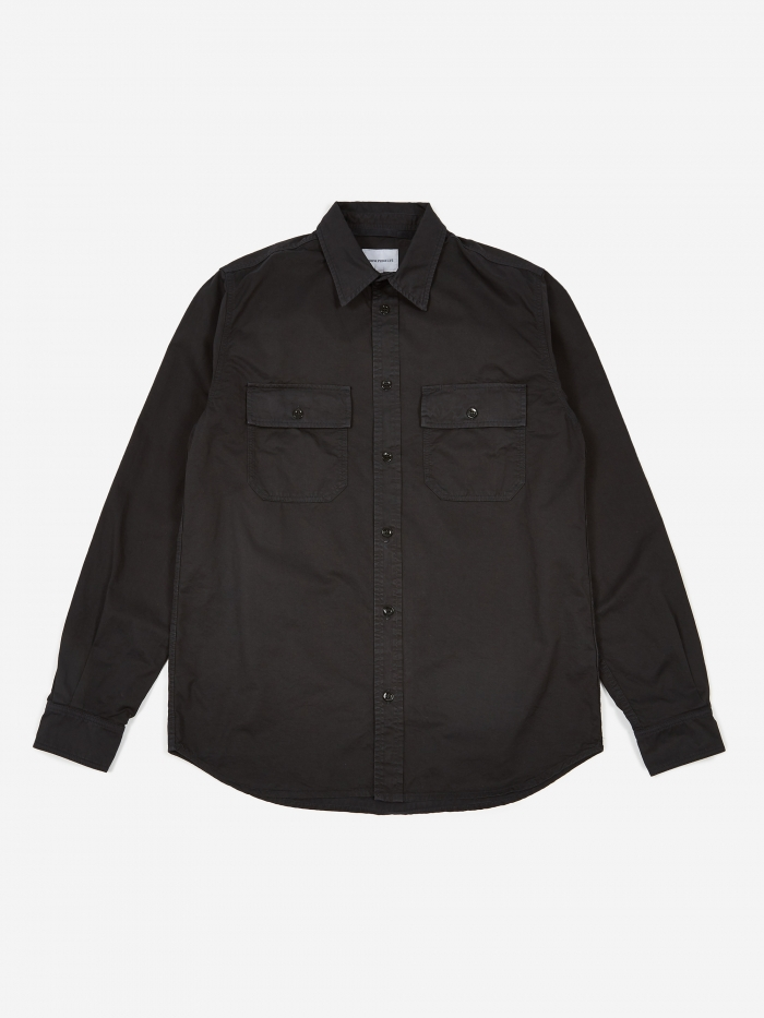 Norse Projects Villads Light Twill Shirt - Dark Navy (Image 1)