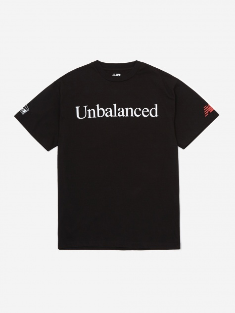 Aries x New Balance Unbalanced Shortsleeve T-Shirt - Black