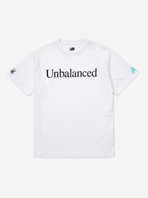 Aries x New Balance Unbalanced Shortsleeve T-Shirt - White