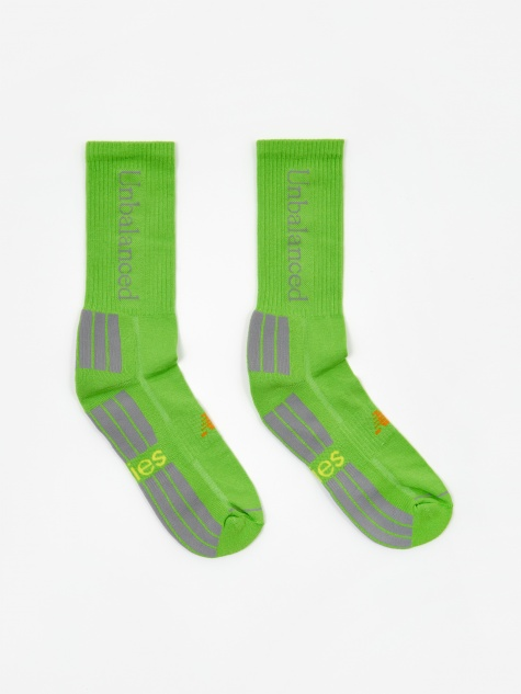 x New Balance Unbalanced Socks - Green