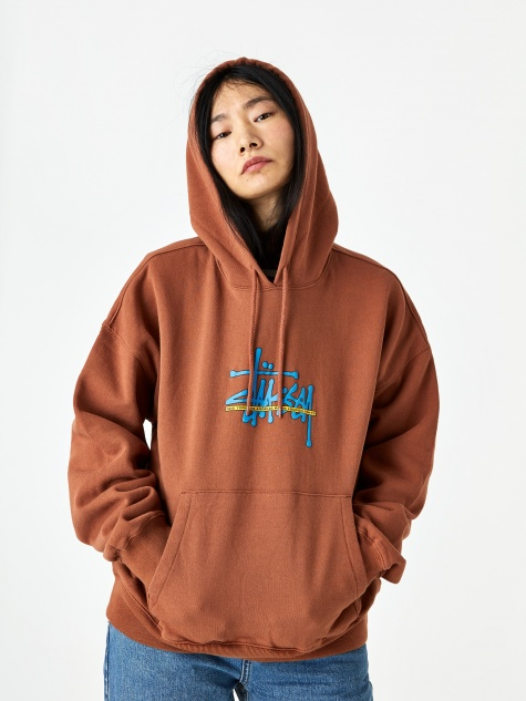 Ray Hooded Sweatshirt - Brick