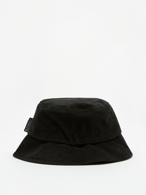 Francis Corduroy Bucket Hat - Black