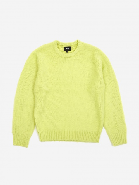 Brushed Knitted Jumper - Lime