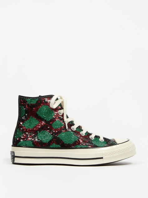 Snake Sequin Chuck 70 Hi - Red/Green/Egret