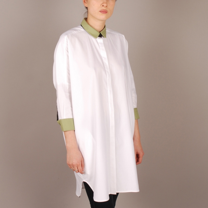 Antipodium Posterize Dress - White (Image 1)