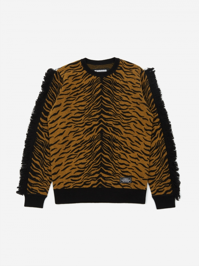 Neighborhood Longsleeve Zebra / WN-KNIT - Gold (Image 1)