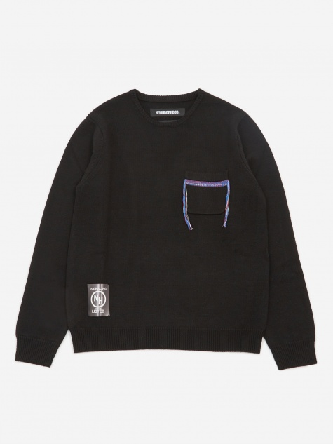Longsleeve Design 2 / W-KNIT - Black
