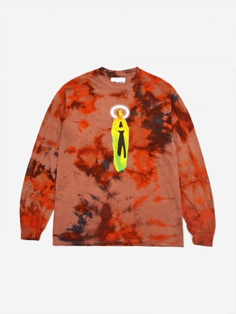 Mother Mary Longsleeve T-Shirt - Tie Dye Orang