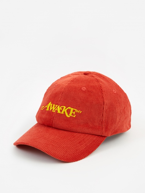 Corduroy Classic Logo Dad Hat - Orange