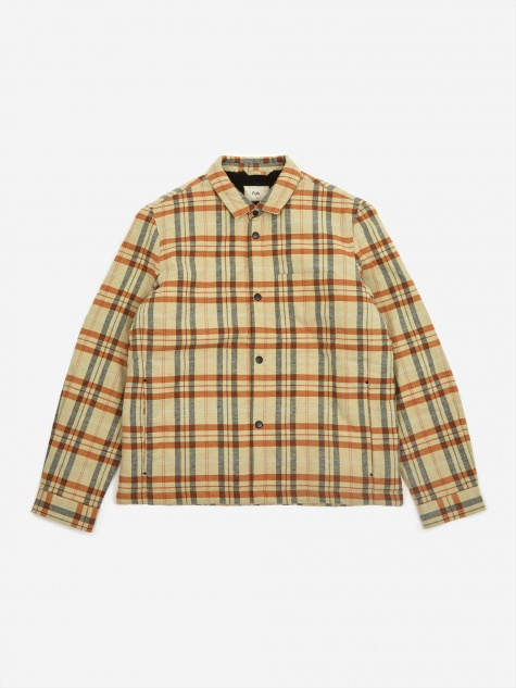 Wadded Check Jacket - Fawn Multi Check