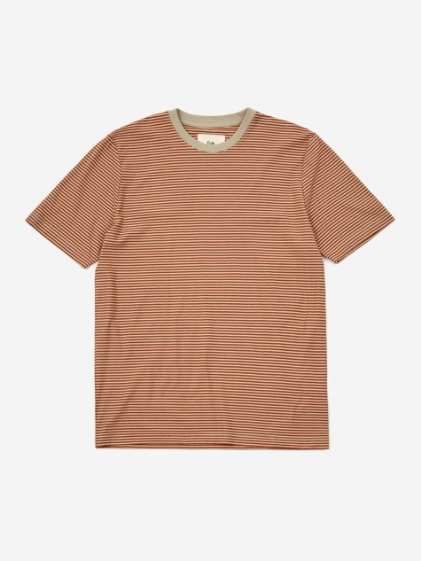 1x1 Stripe Shortsleeve T-Shirt - Cinnamon Stone