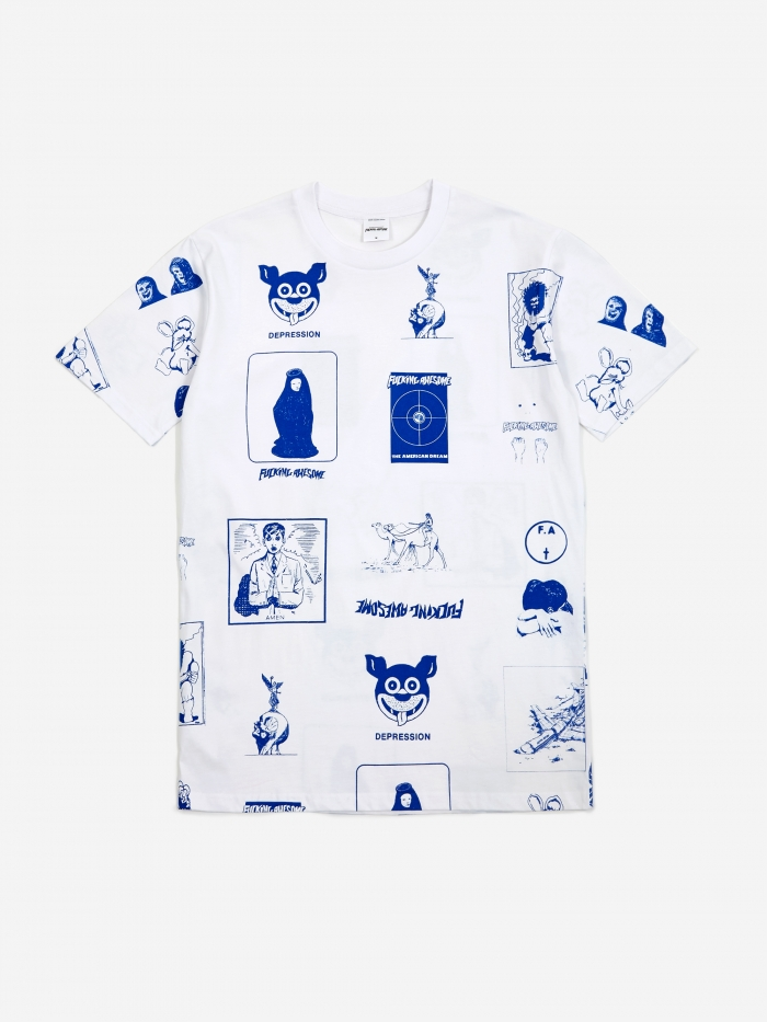 Fucking Awesome Cut Out 2 Shortsleeve T-Shirt - White (Image 1)