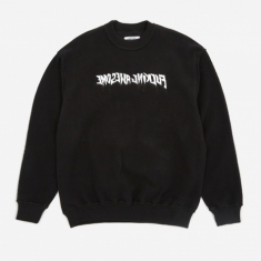 Fucking Awesome Reversible Empty Drip Crewneck Sweatshirt - Blac