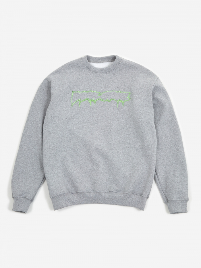 Fucking Awesome Reversible Empty Drip Crewneck Sweatshirt - Heat (Image 1)