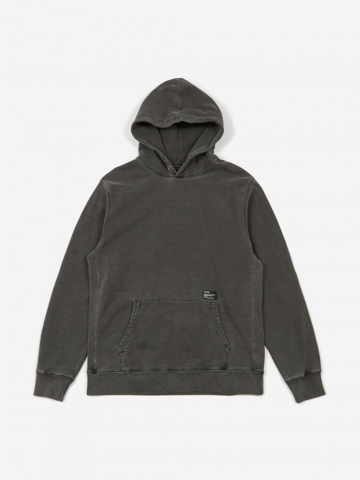 Haven Pigment Dyed Heavyweight Hoodie Cotton Fleece - Charcoal (Image 1)