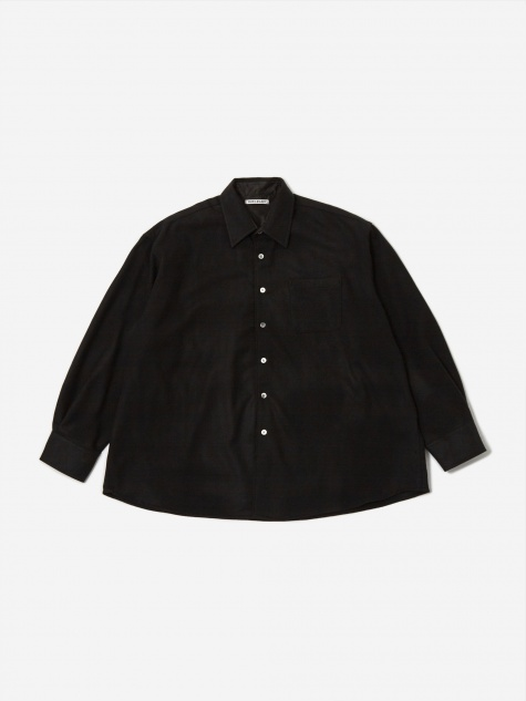 Borrowed Shirt - Black Wool