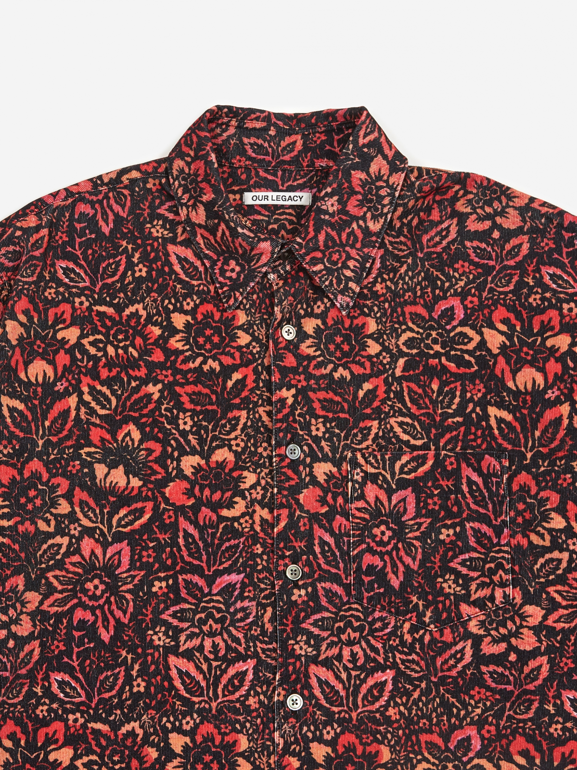 Our Legacy Coco 70 S Floral Shirt Floral Wallpaper Print