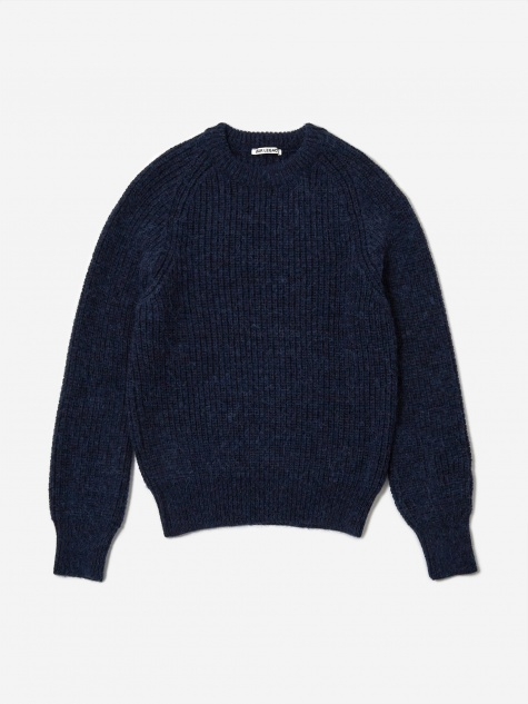 Heavy Chunk Raglan Jumper - Fuzzy Deep Sea