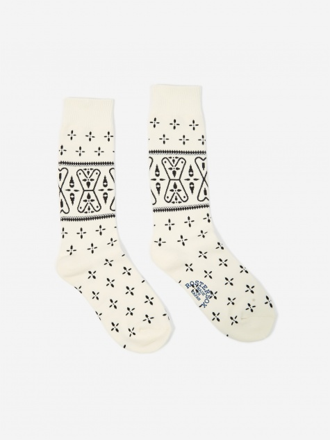 Bandana V Sock - White