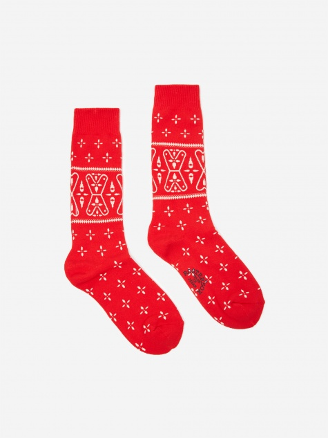 Bandana V Sock - Red