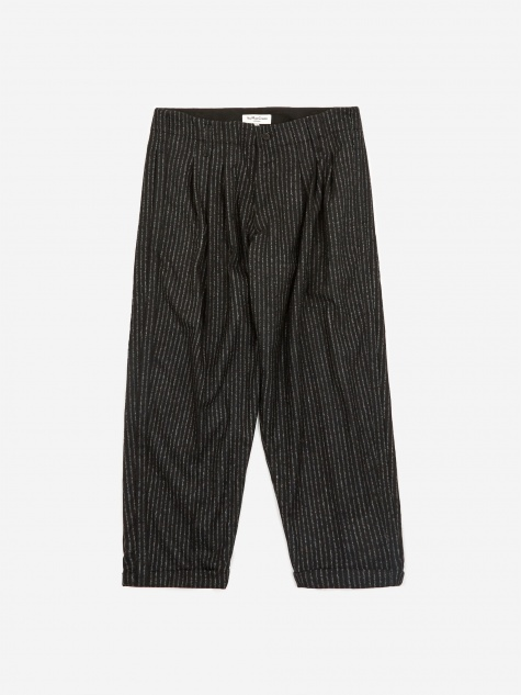 Creole Peg Trouser - Black/Ecru