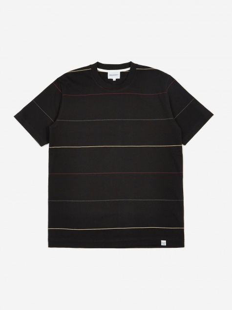 Johannes Thin Stripe T-Shirt - Black