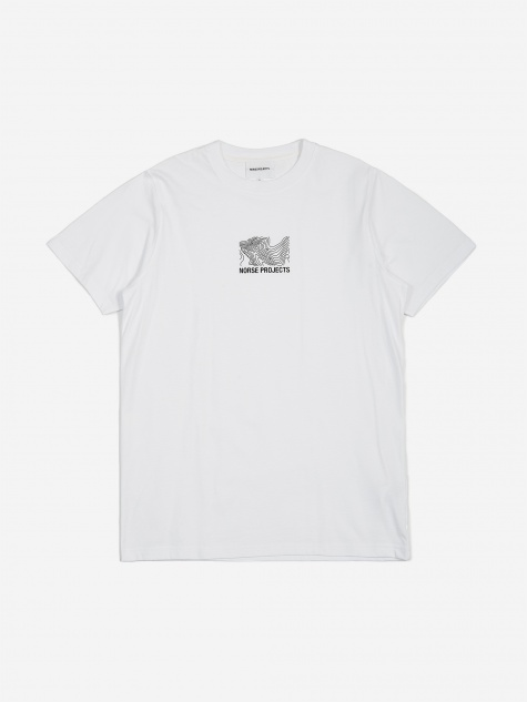 Niels Small Topo Logo T-Shirt - White