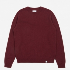 Norse Projects Sigfred Lambswool Jumper - Mulberry Red