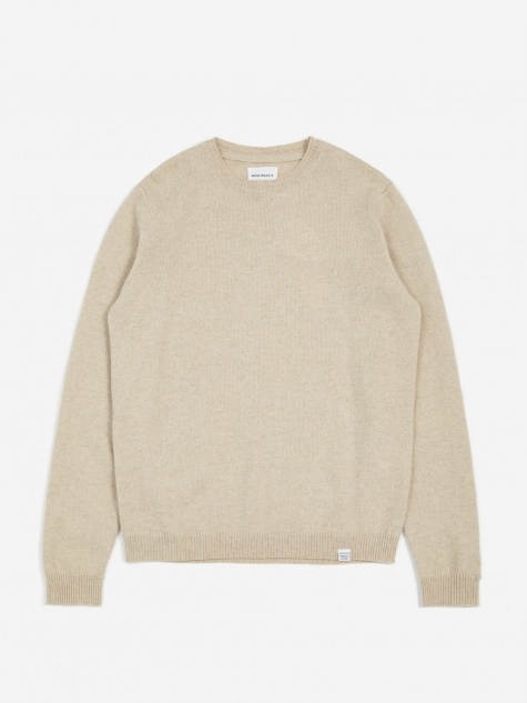 Sigfred Lambswool Jumper - Oatmeal Melange