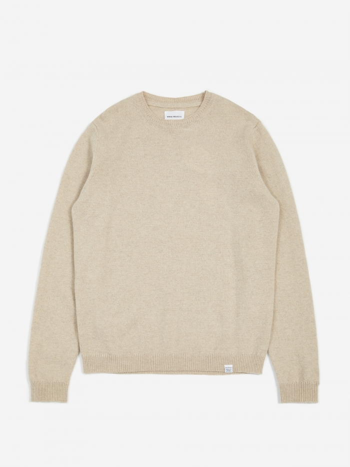 Norse Projects Sigfred Lambswool Jumper - Oatmeal Melange (Image 1)