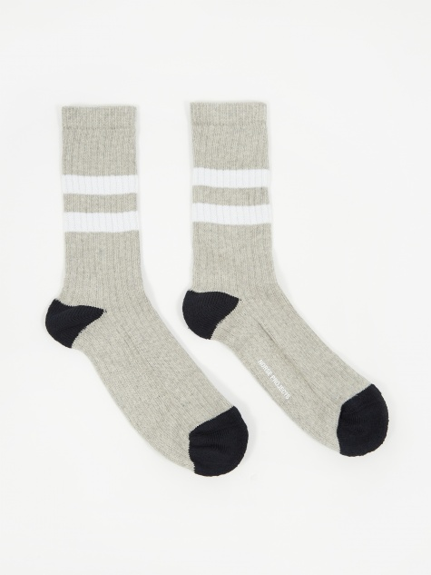 Bjarki Cotton Sport Sock - Light Grey Melange