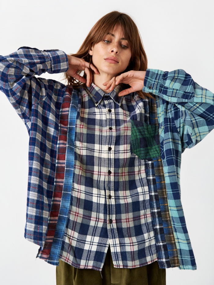 Needles Wide 7 Cuts Flannel Shirt One Size 4 - Assorted (Image 1)