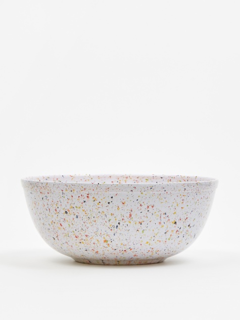 Melamine Large Serving Bowl - Speckled