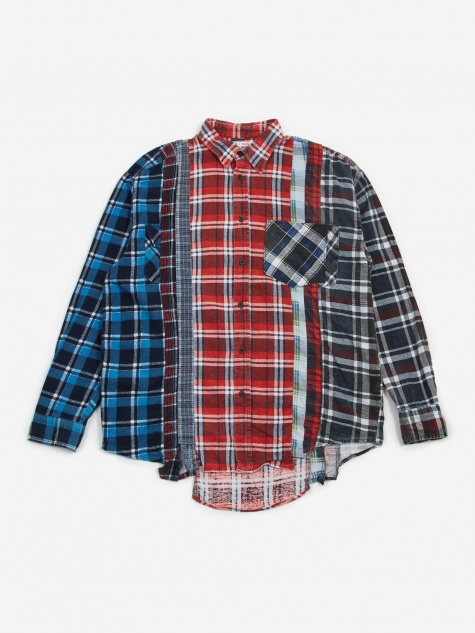 Rebuild 7 Cuts Flannel Shirt Size Small 3 - Assorted