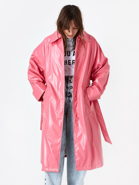 A-Line Coat  - Barbie Pink