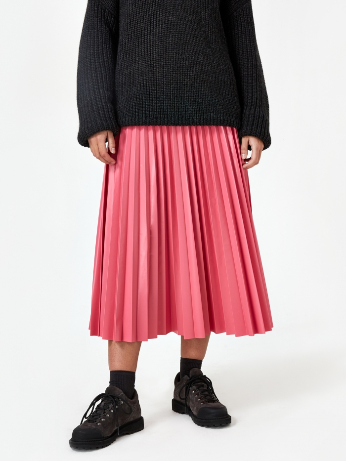 MM6 Maison Margiela Pleated Skirt - Barbie Pink (Image 1)