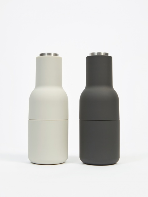 Menu Bottle Grinder 2 Pack Steel Lid - Ash/Carbon