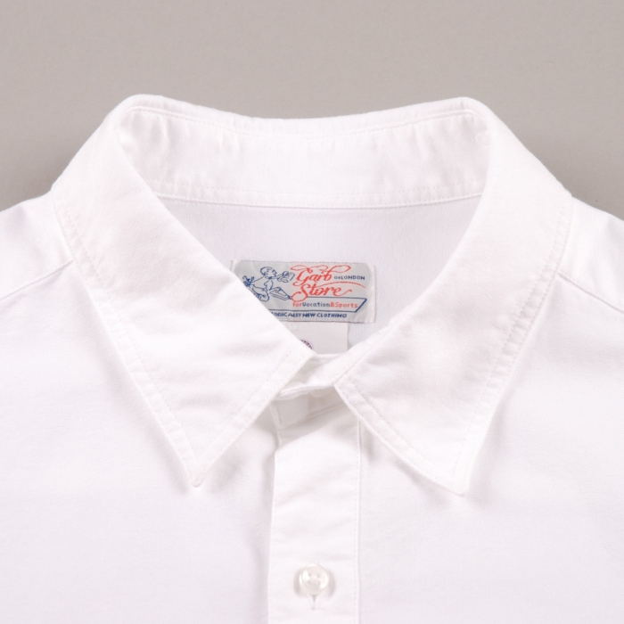 Garbstore Oxford X Cross College Shirt - White (Image 1)