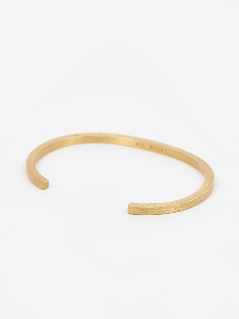 Square Bracelet - Brushed Vermeil Gold