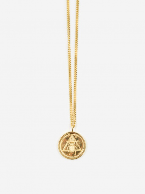 The Scarab Pendant - 18ct Gold Plated