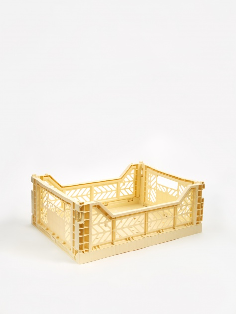 Hay Colour Crate Medium - Light Yellow