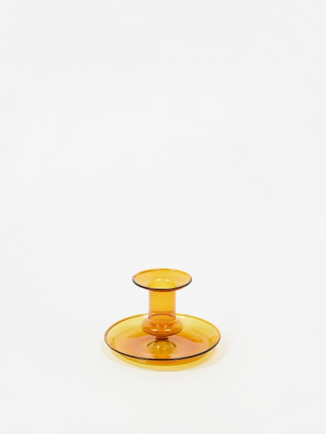 Flare Candle Holder - Amber
