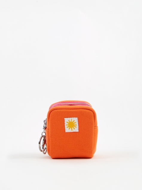 Cube Keychain Purse - Orange